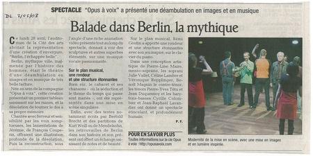 Dauphiné Libéré 02/05/2008