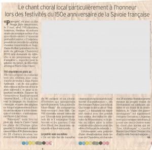 Article Dauphiné Libéré Janvier 2010